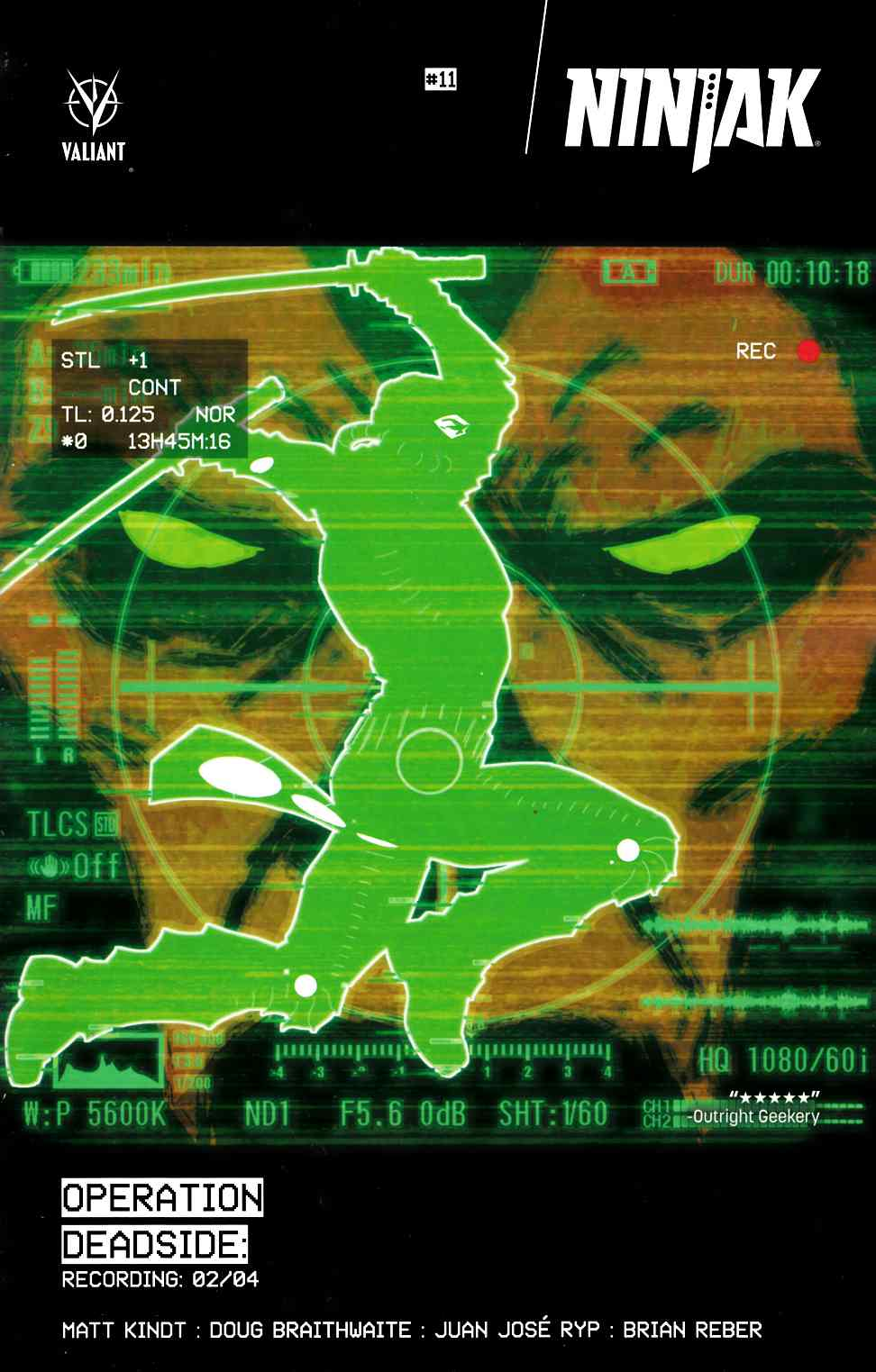 Ninjak #11 Cover A- Glow-In-The-Dark Kano [Valiant Comic] THUMBNAIL