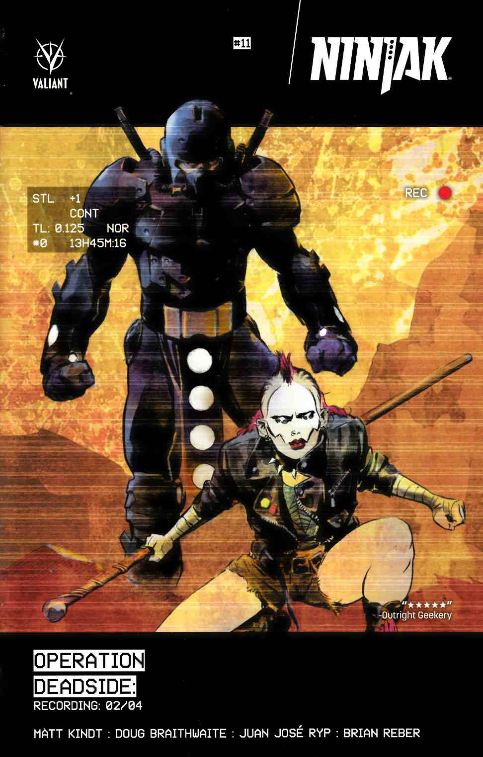 Ninjak #11 Cover B- Glow-In-The-Dark Nord [Valiant Comic] LARGE