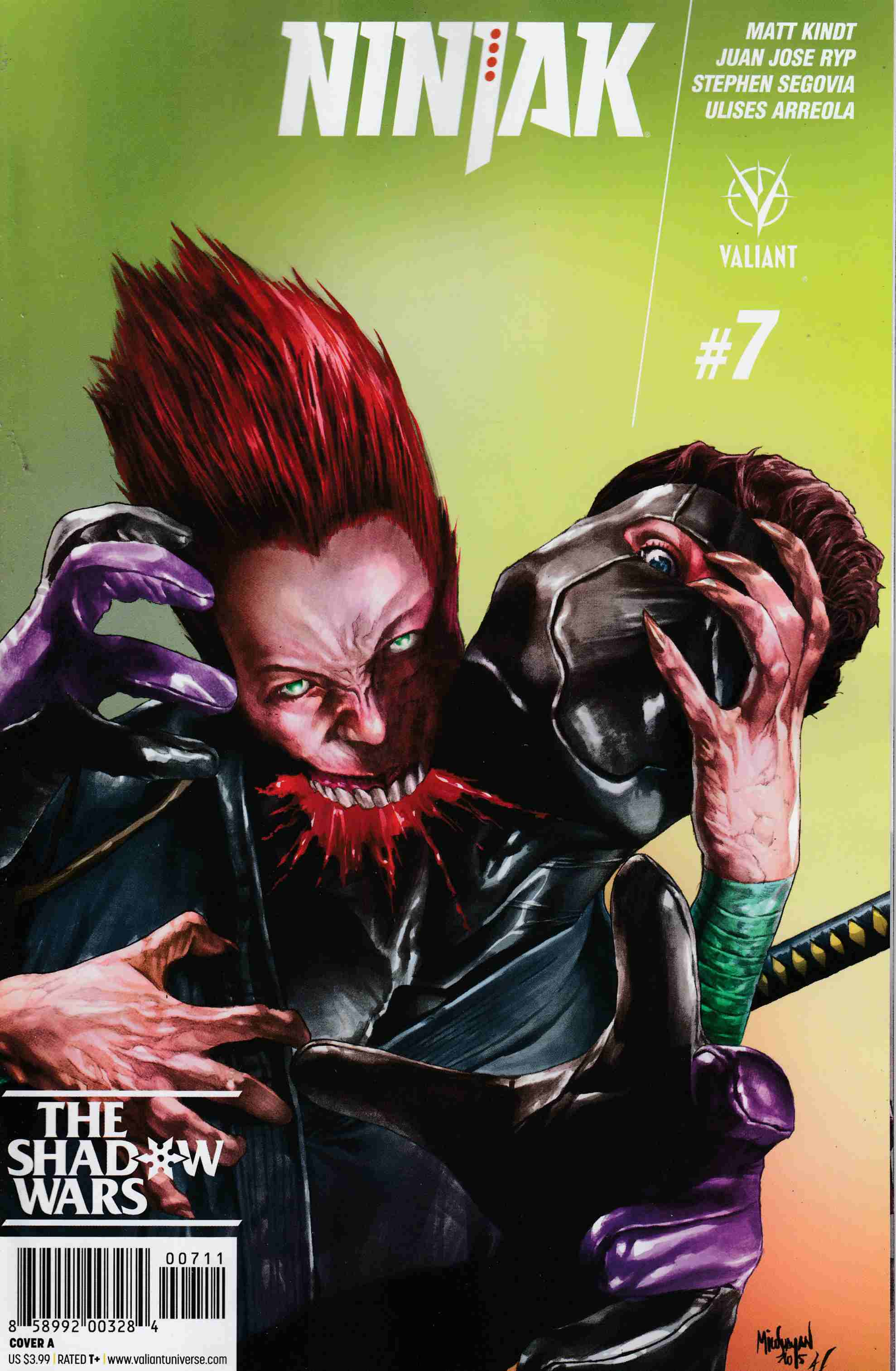 Ninjak #7 Cover A- Suayan [Valiant Comic] THUMBNAIL