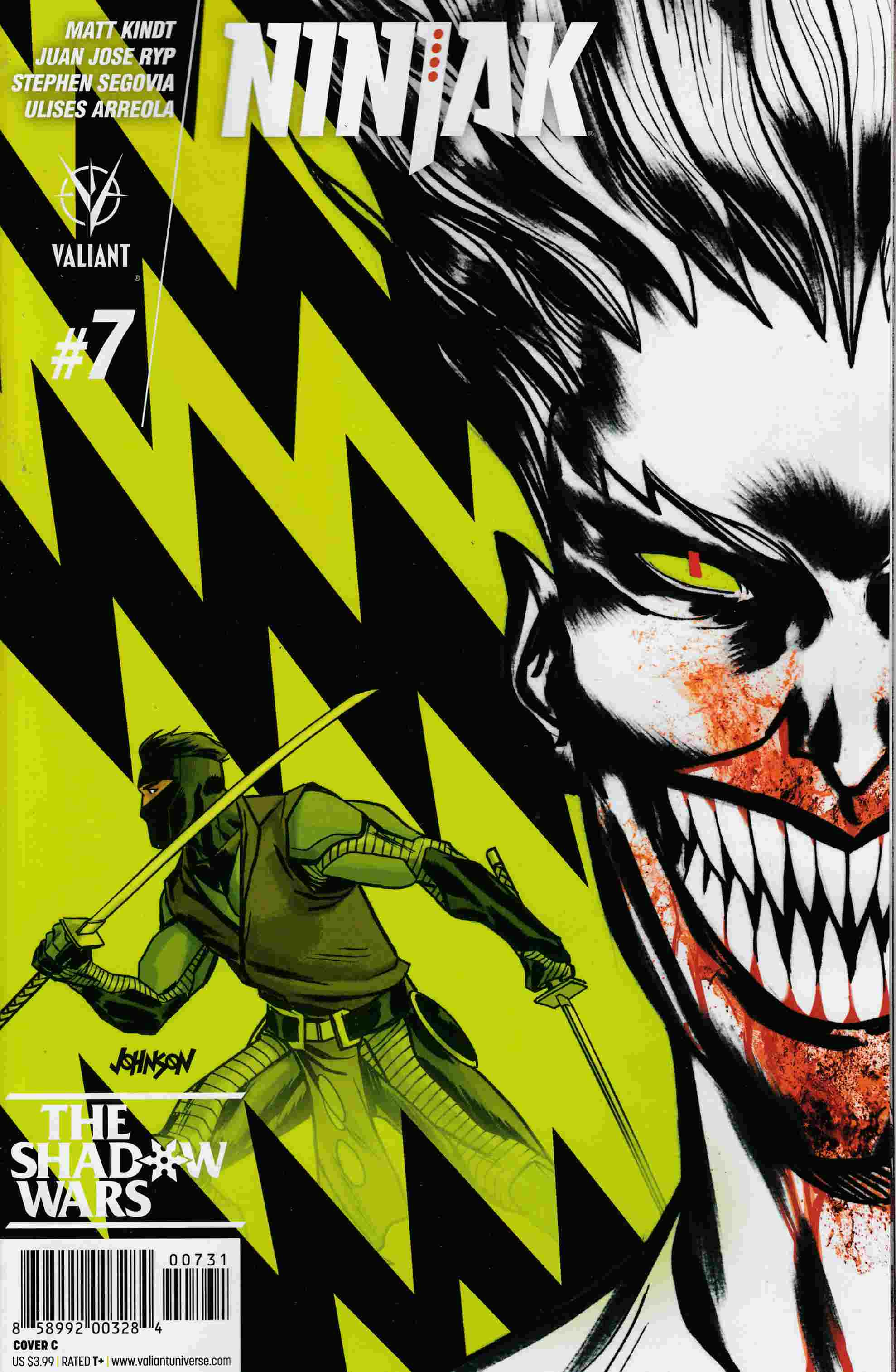 Ninjak #7 Cover C- Johnson [Valiant Comic] THUMBNAIL