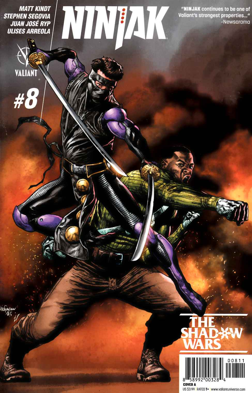 Ninjak #8 Cover A- Suayan [Valiant Comic] THUMBNAIL