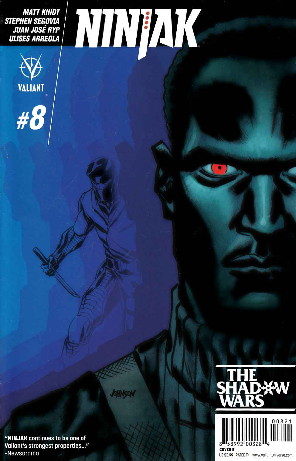 Ninjak #8 Cover B- Johnson [Valiant Comic] THUMBNAIL