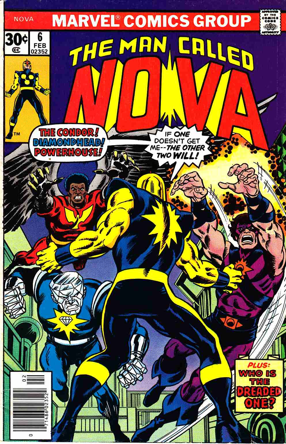 Nova #6 Fine (6.0) [Marvel Comic] THUMBNAIL