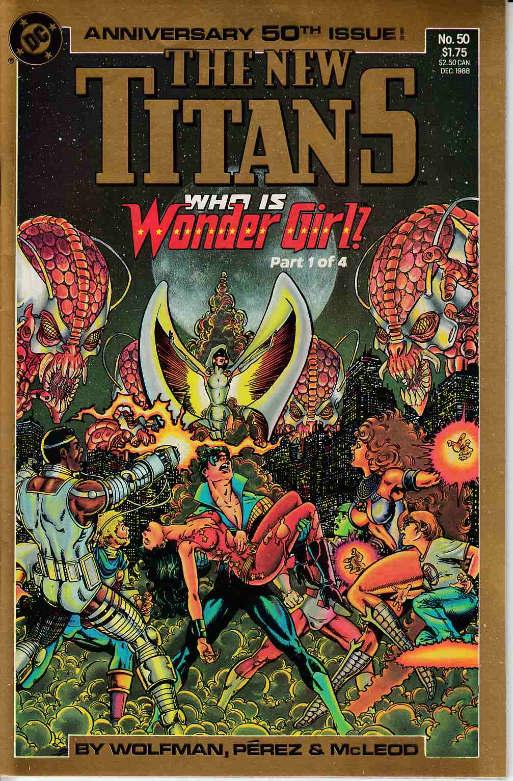 New Teen Titans #50 Very Fine (8.0) [DC Comic] LARGE
