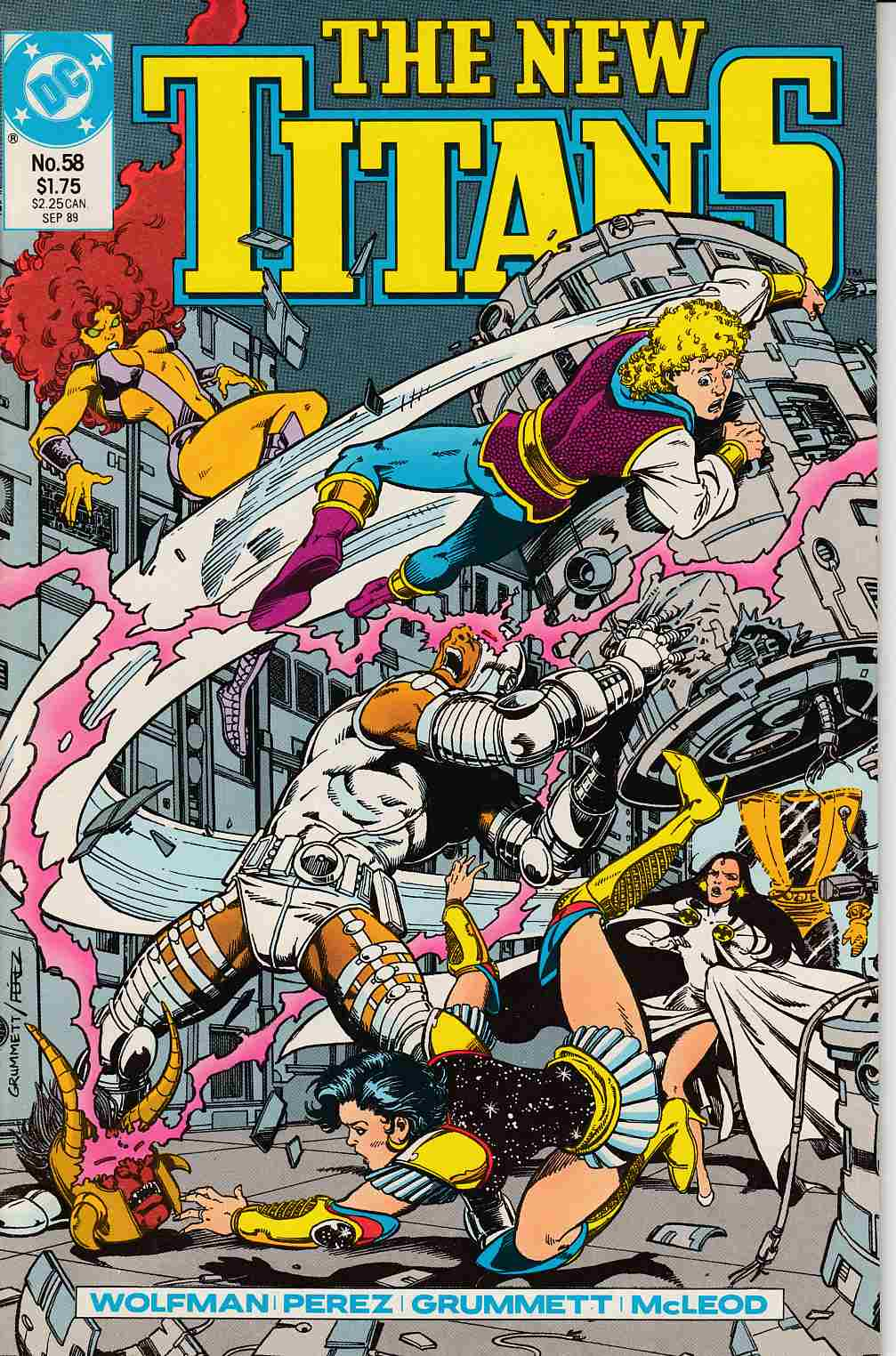 New Teen Titans #58 Near Mint (9.4) [DC Comic] THUMBNAIL