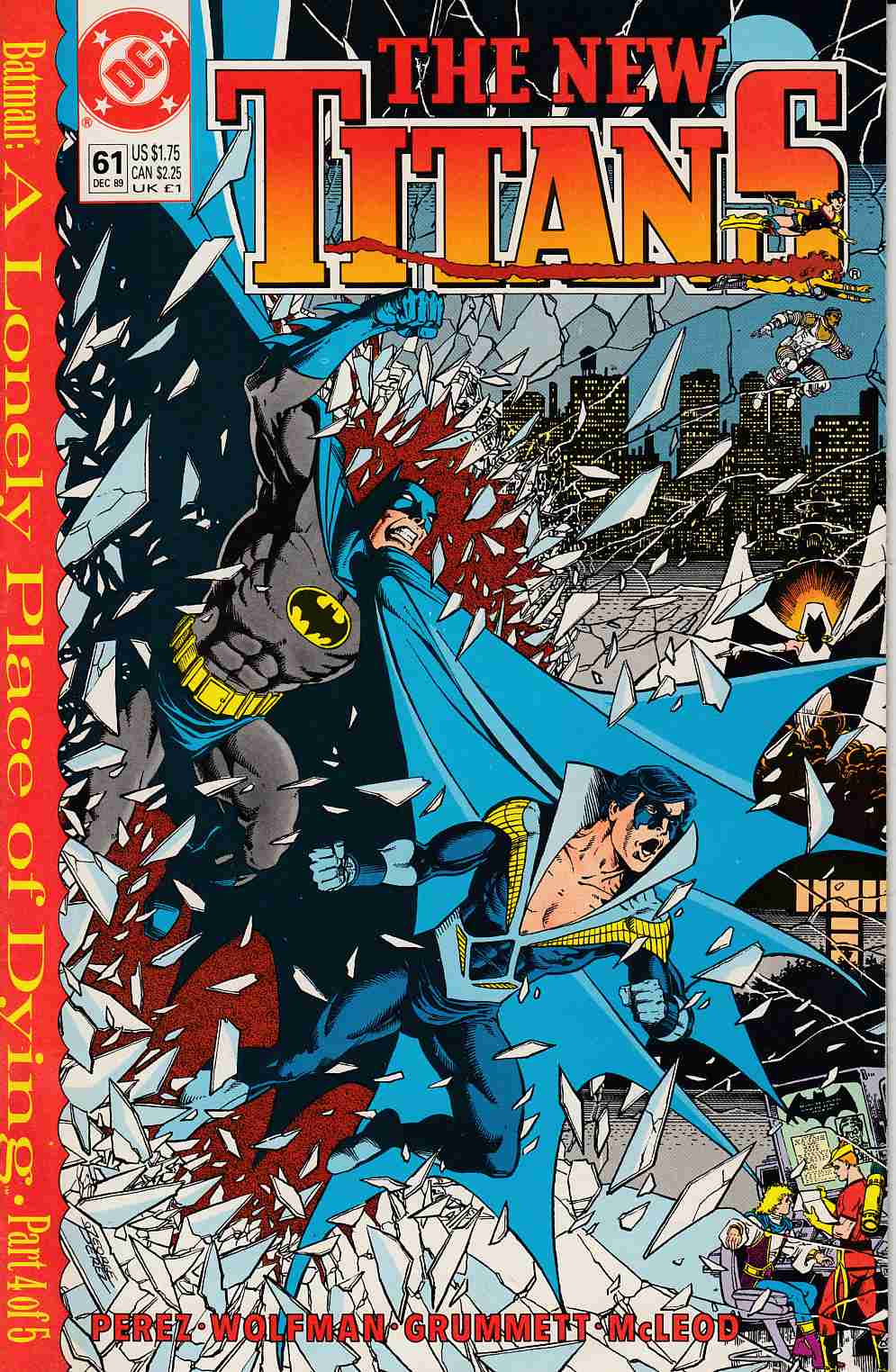 New Teen Titans #61 Near Mint (9.4) [DC Comic] THUMBNAIL