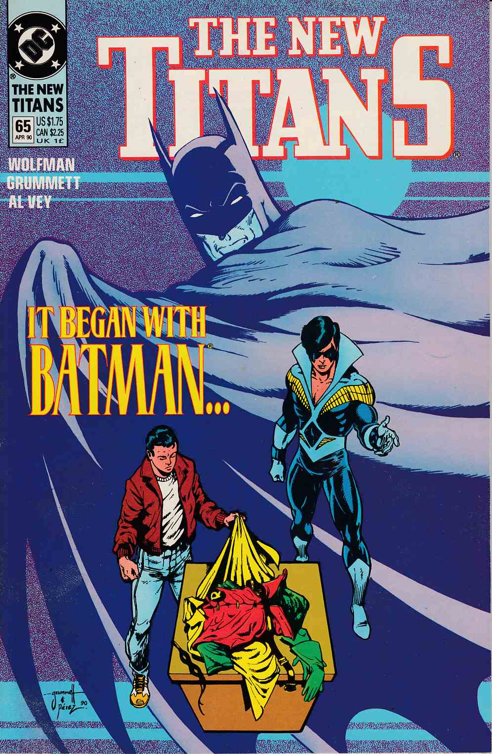 New Teen Titans #65 Very Fine (8.0) [DC Comic]_THUMBNAIL