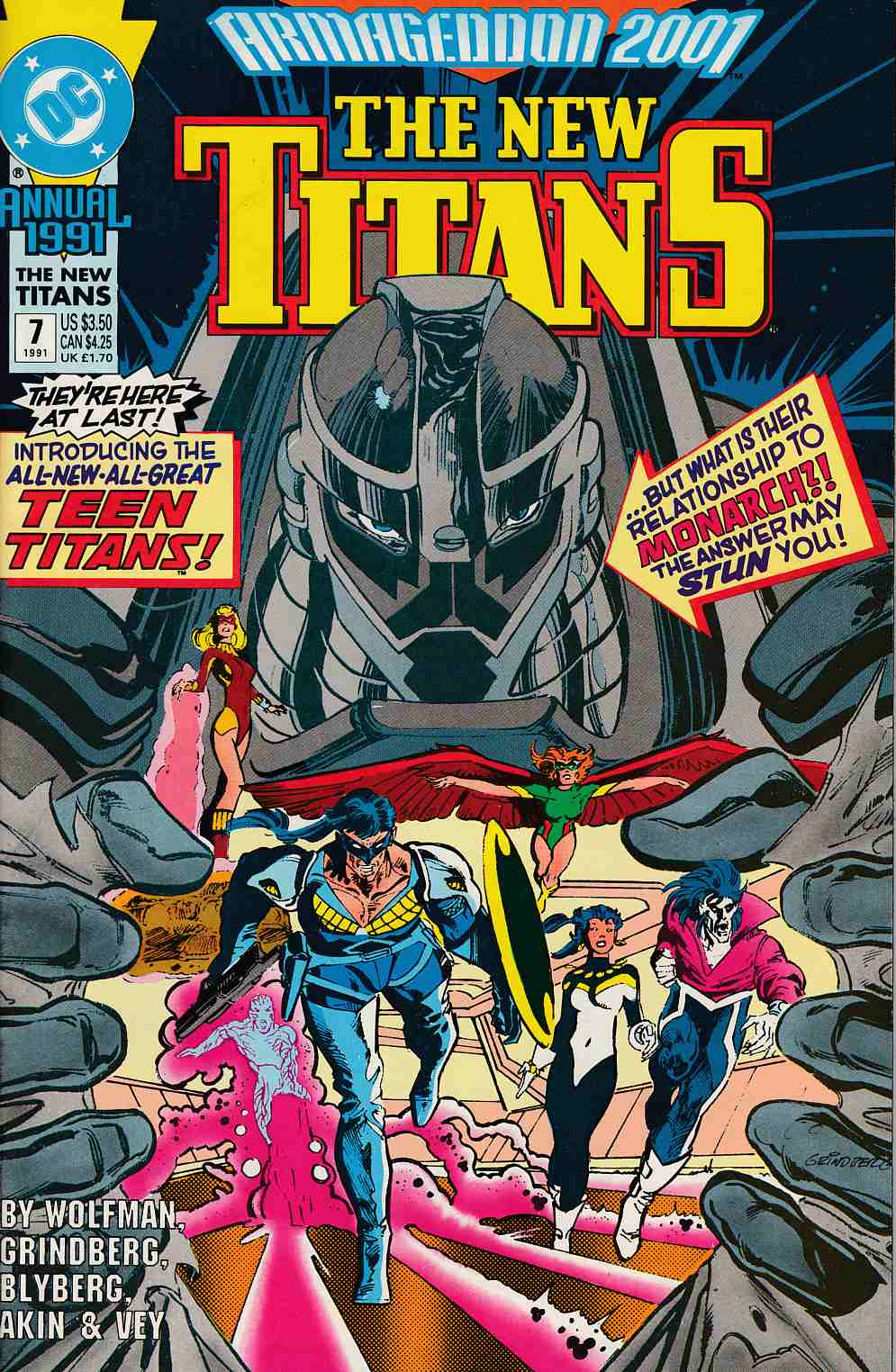 New Teen Titans Annual #7 Near Mint (9.4) [DC Comic] THUMBNAIL