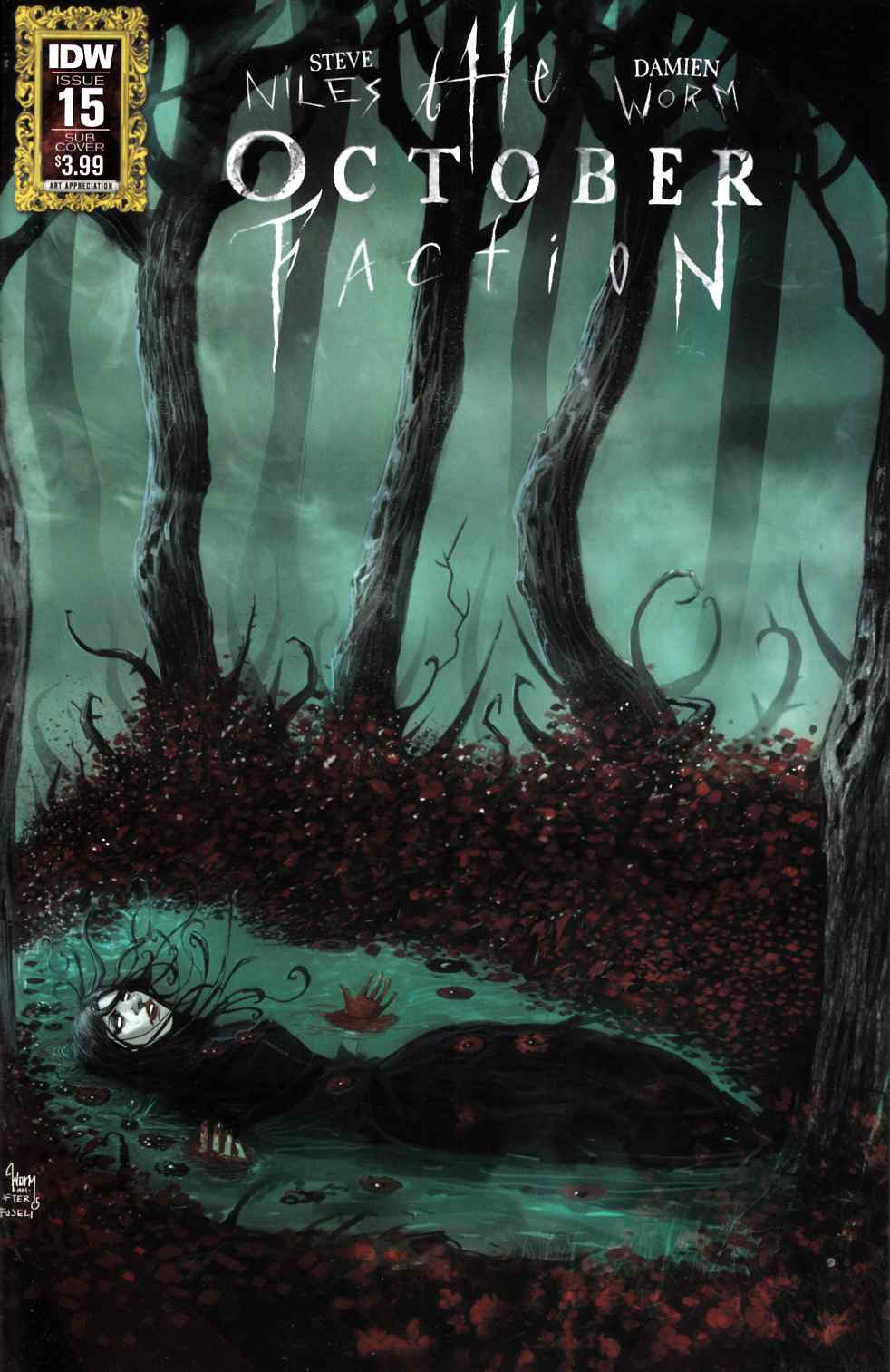 October Faction #15 Art Appreciation Variant Cover [IDW Comic] LARGE