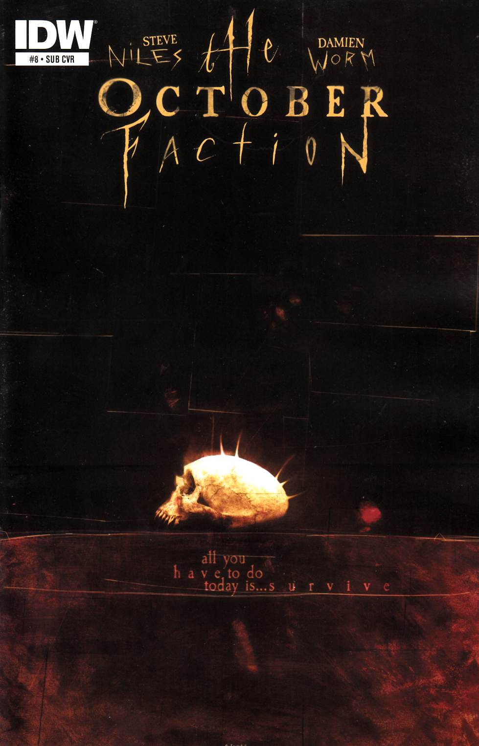 October Faction #8 Subscription Cover [IDW Comic] THUMBNAIL