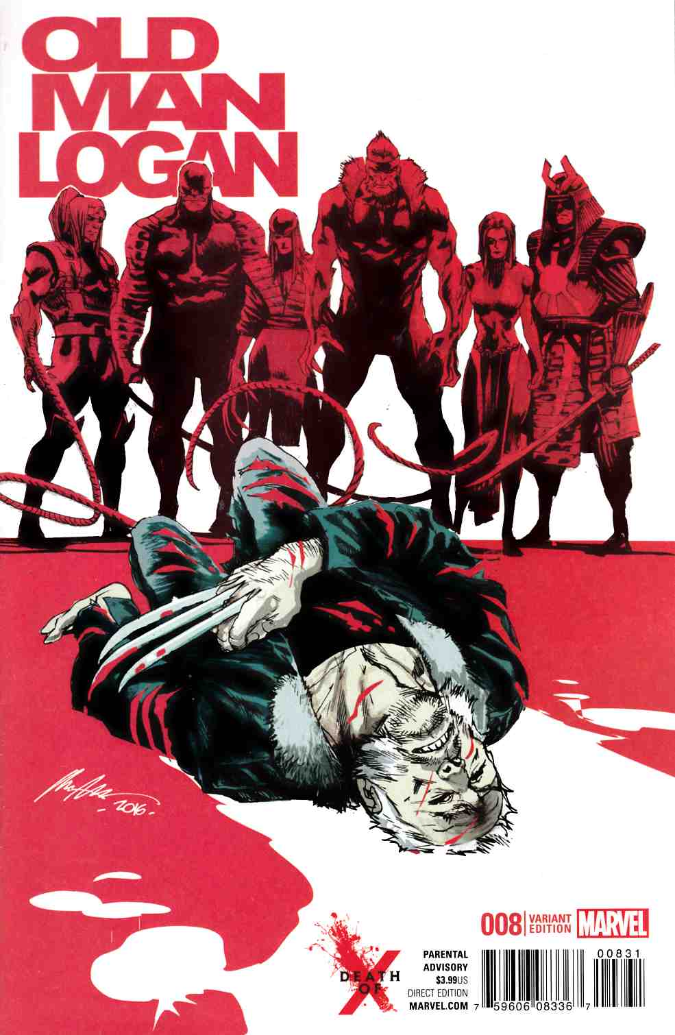 Old Man Logan #8 Death Of X Variant Cover [Marvel Comic] LARGE