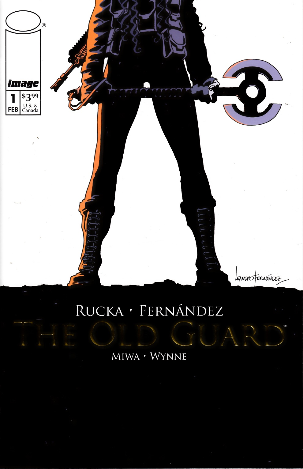 Old Guard #1 Gold Variant Cover Near Mint (9.4) [Image Comic] THUMBNAIL