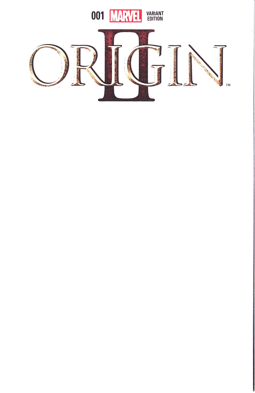 Origin II #1 Blank Cover [Marvel Comic] LARGE