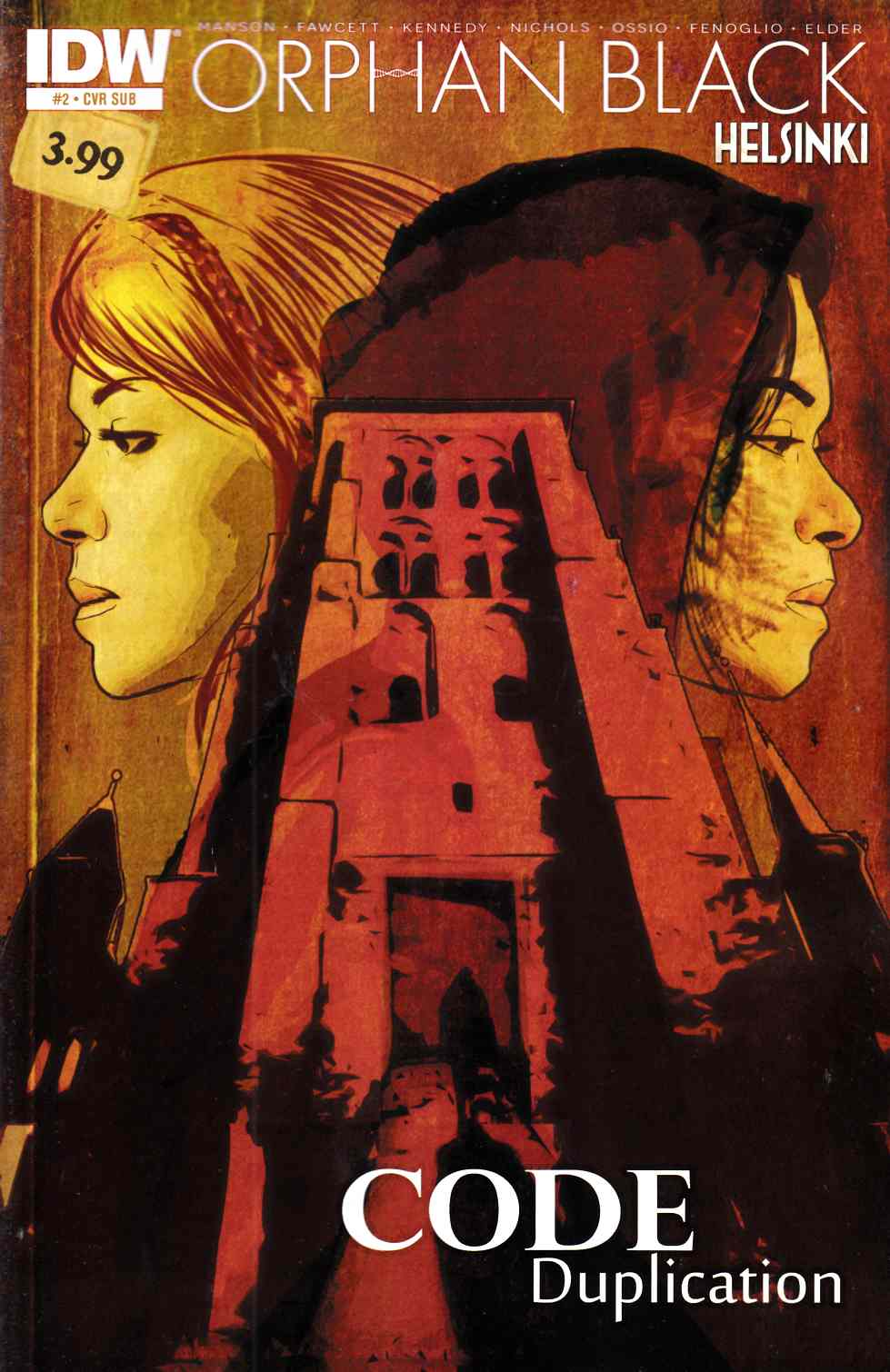 Orphan Black Helsinki #2 Subscription Cover [IDW Comic]