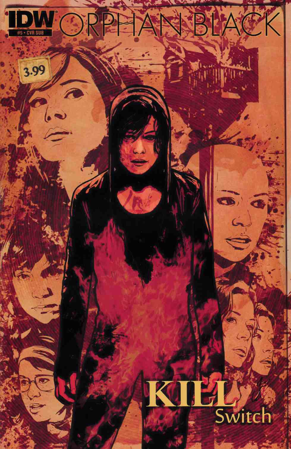 Orphan Black Helsinki #5 Subscription Cover [IDW Comic]