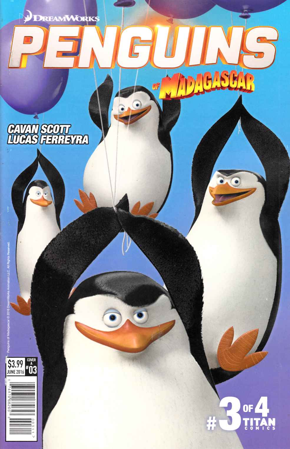 Penguins of Madagascar Elitest of Elite #3 Cover A [Titan Comic] THUMBNAIL