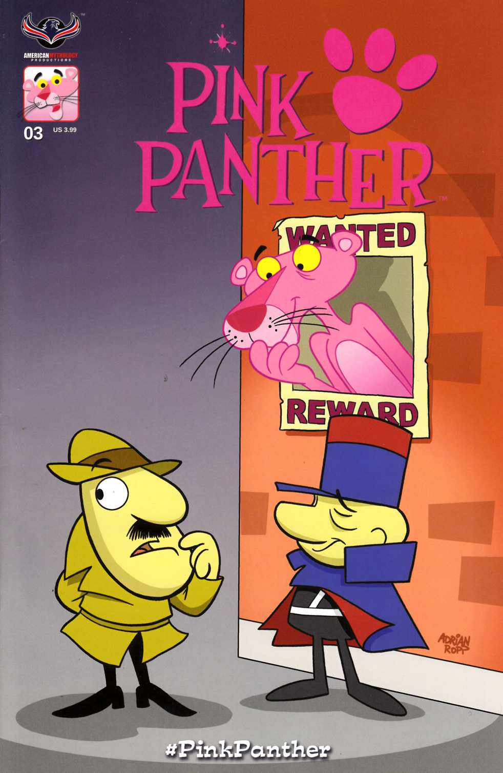 Pink Panther #3 Main Cover [American Mythology Comic] LARGE