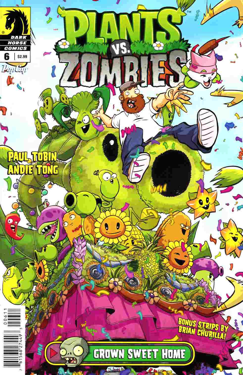 Plants Vs Zombies Ongoing #6 Grown Sweet Home [Dark Horse Comic] LARGE