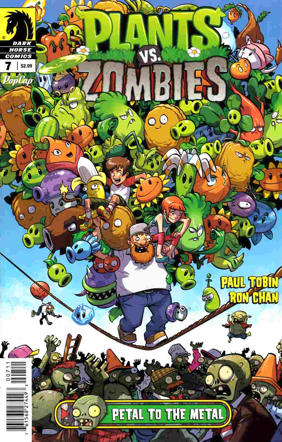 Plants vs Zombies Ongoing #7 Petal To the Metal [Dark Horse Comic] LARGE