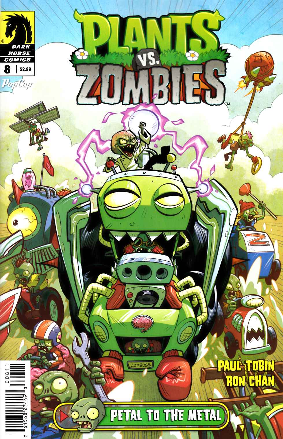 Plants vs Zombies Ongoing #8 Petal To the Metal [Dark Horse Comic] THUMBNAIL