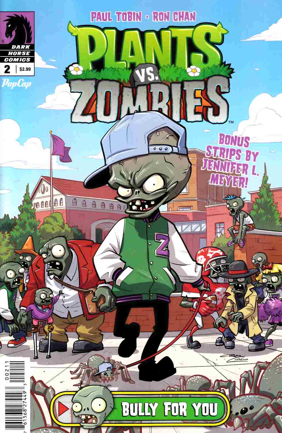 Plants Vs Zombies #2 Bully For You [Dark Horse Comic] LARGE