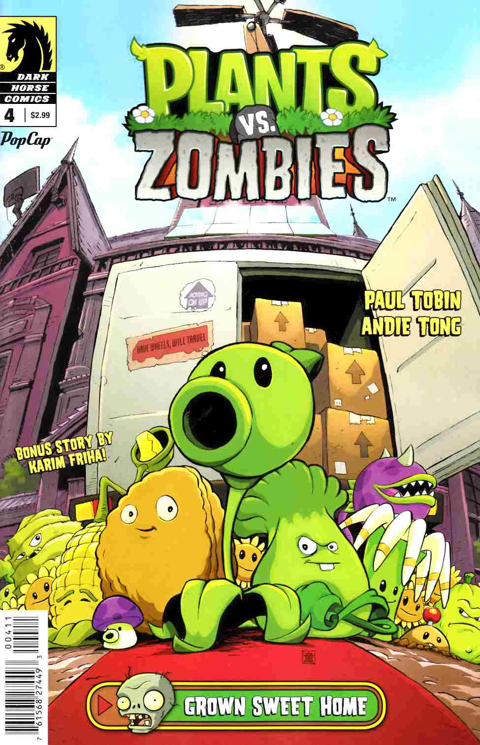 Plants Vs Zombies #4 Grown Sweet Home [Dark Horse Comic] LARGE