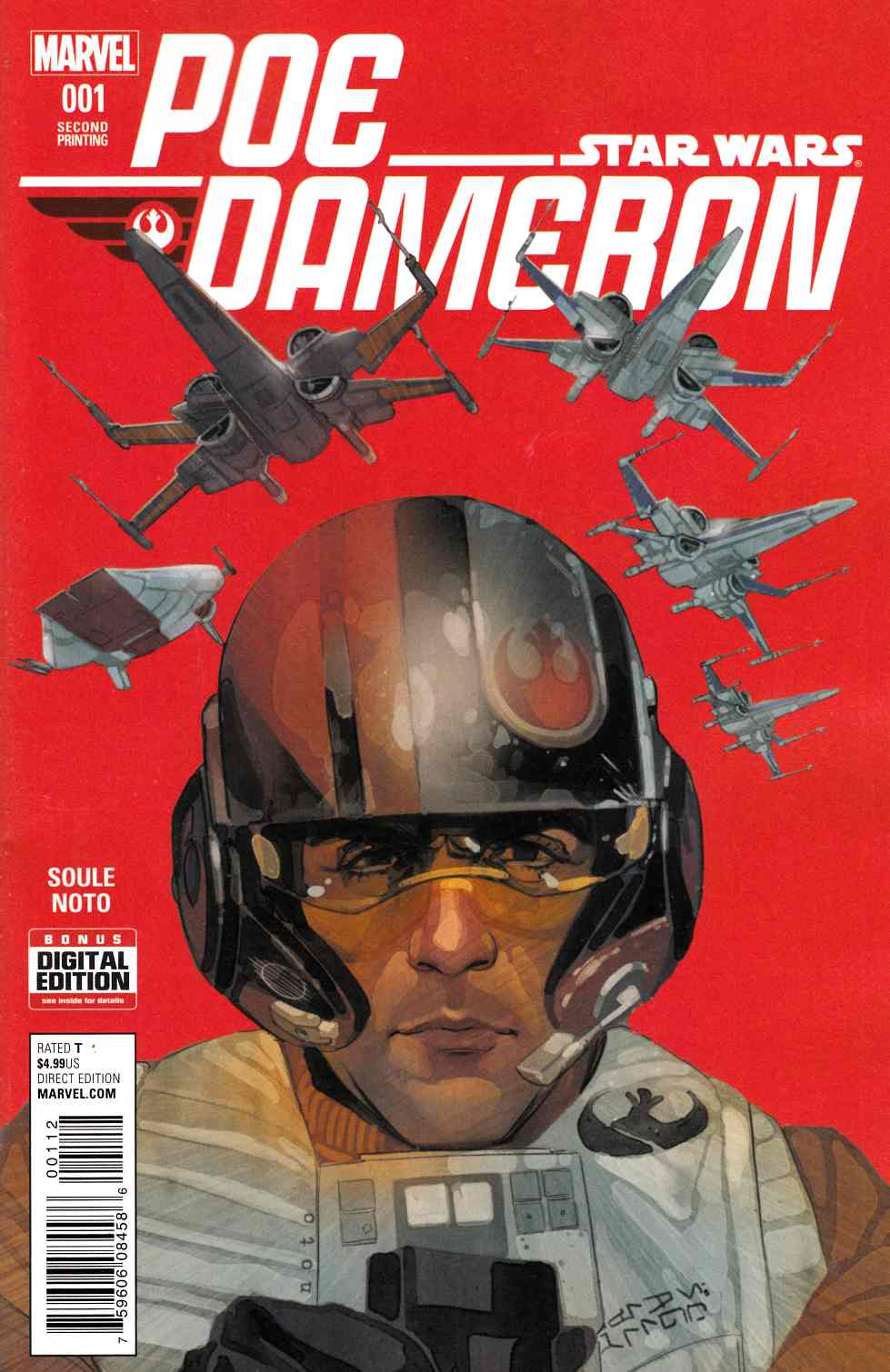 Star Wars Poe Dameron #1 Second Printing [Marvel Comic] LARGE