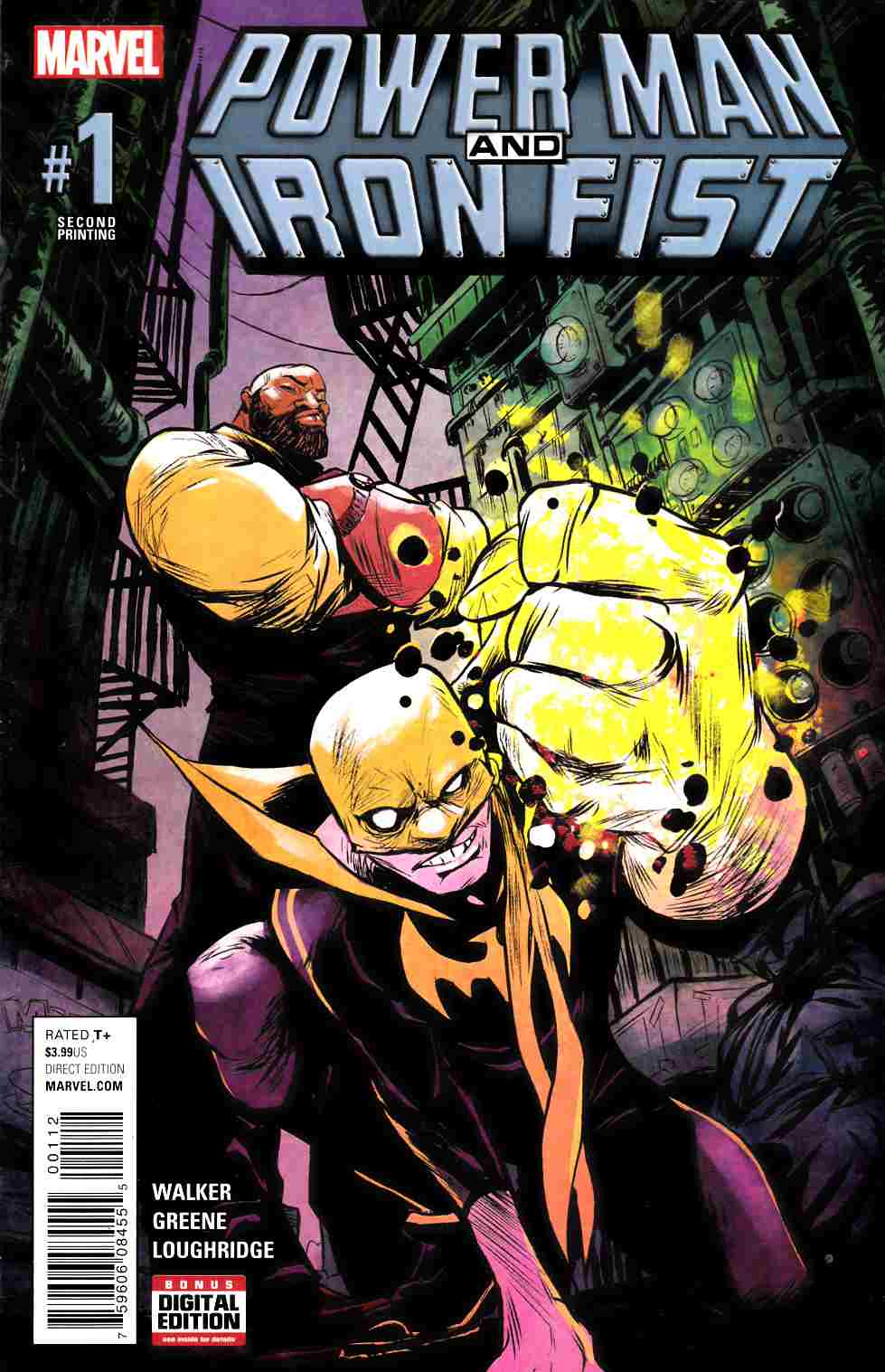Power Man and Iron Fist #1 Second Printing [Marvel Comic] LARGE