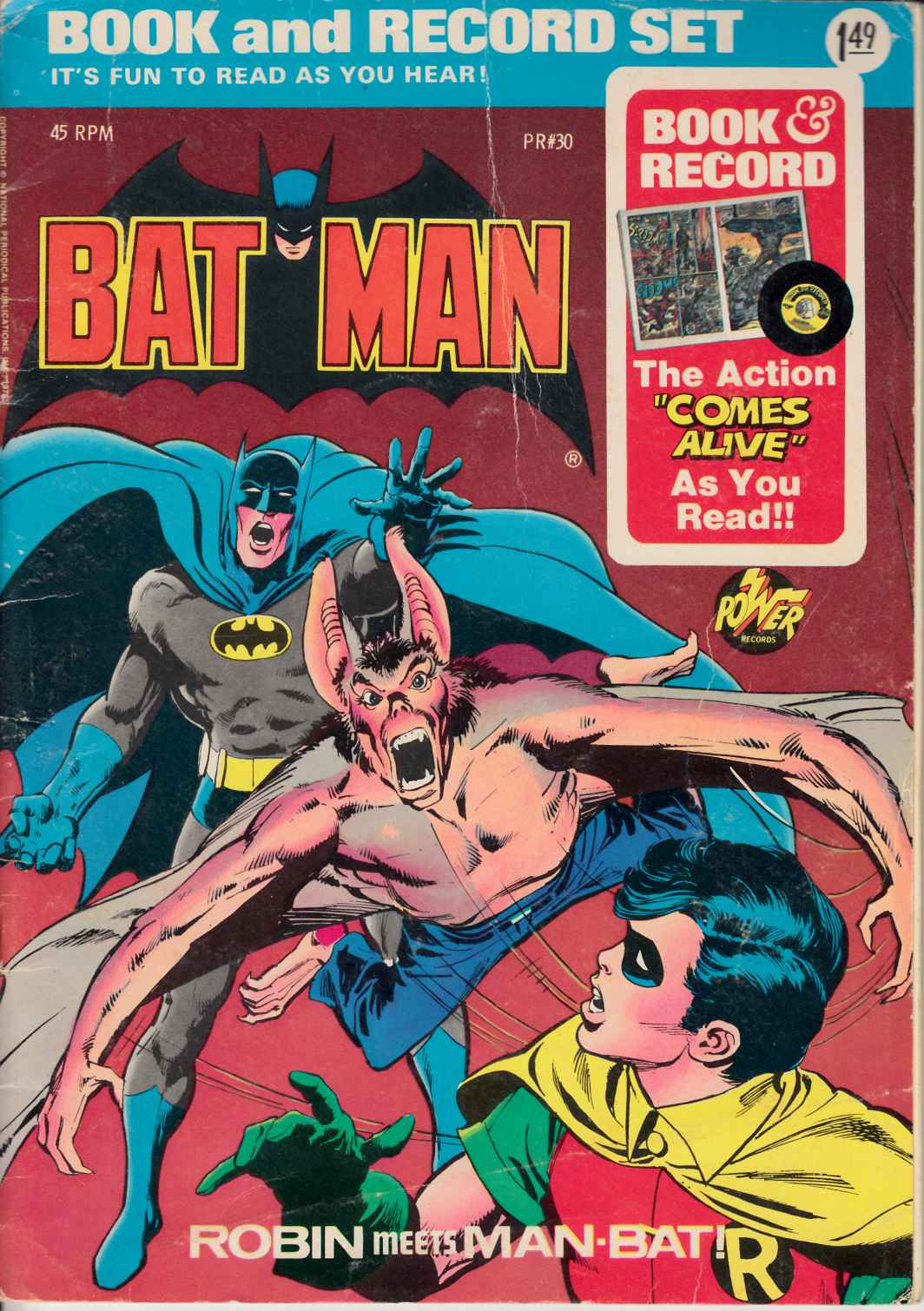 Batman Book and Record Set #30 Very Good (4.0) [DC Comic]_THUMBNAIL