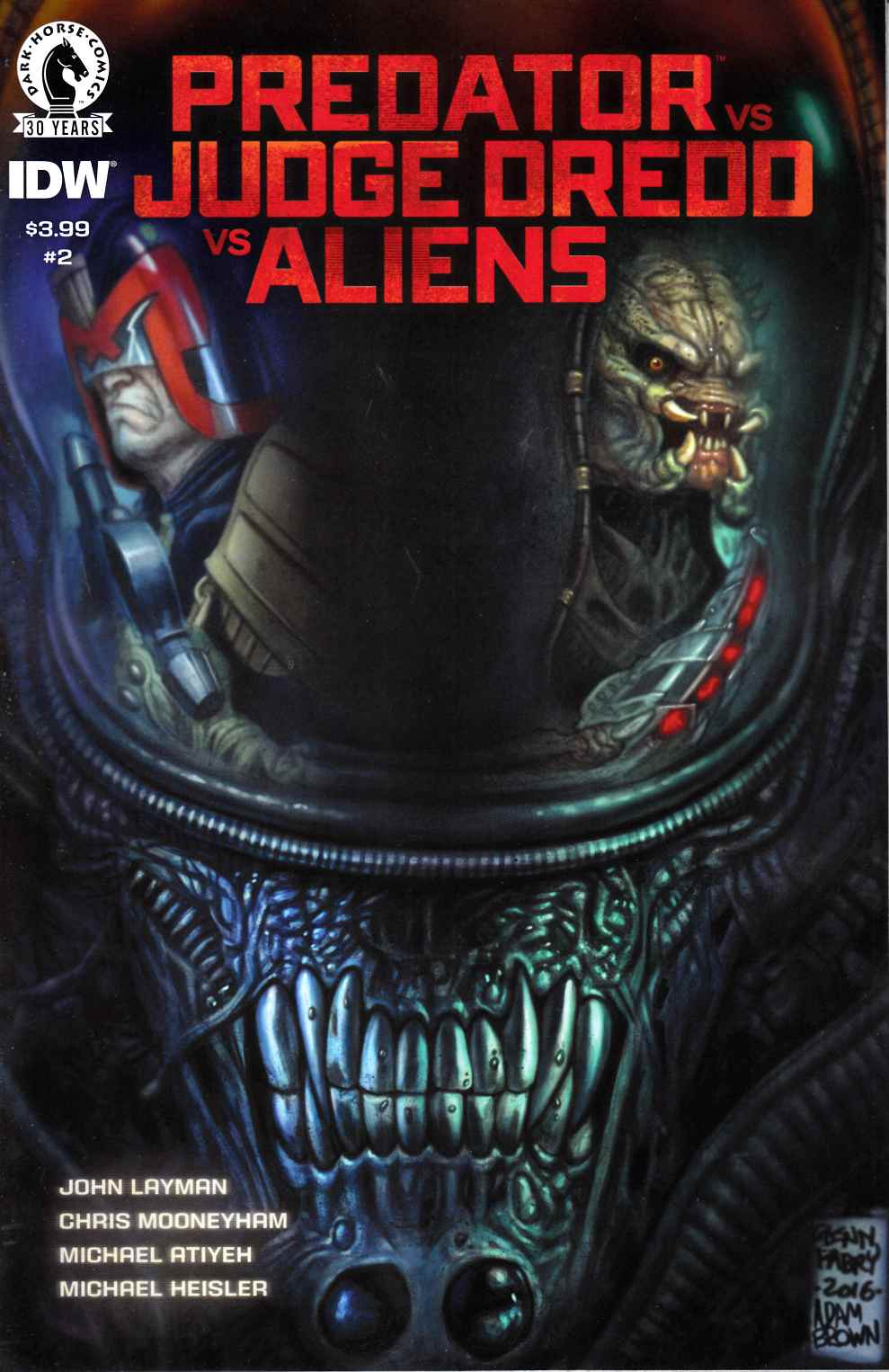 Predator vs Judge Dredd vs Aliens #2 [Dark Horse Comic]