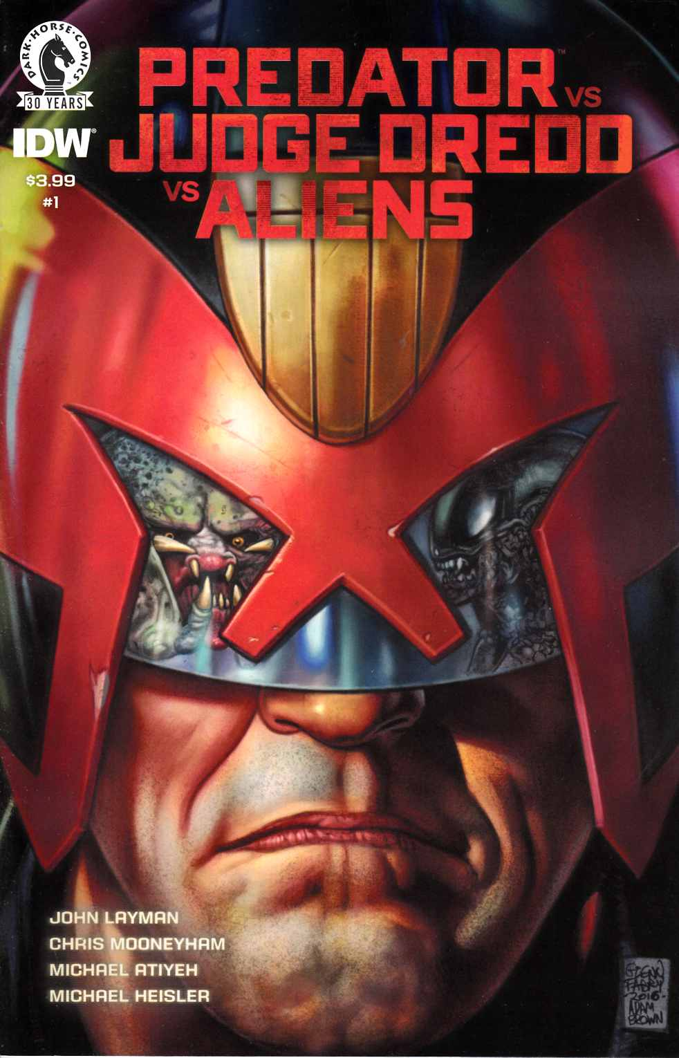 Predator vs Judge Dredd vs Aliens #1 [Dark Horse Comic]