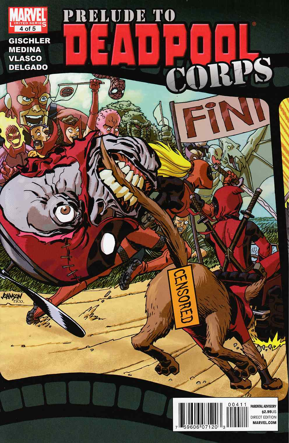 Prelude to Deadpool Corps #4 Very Fine (8.0) [Marvel Comic] THUMBNAIL