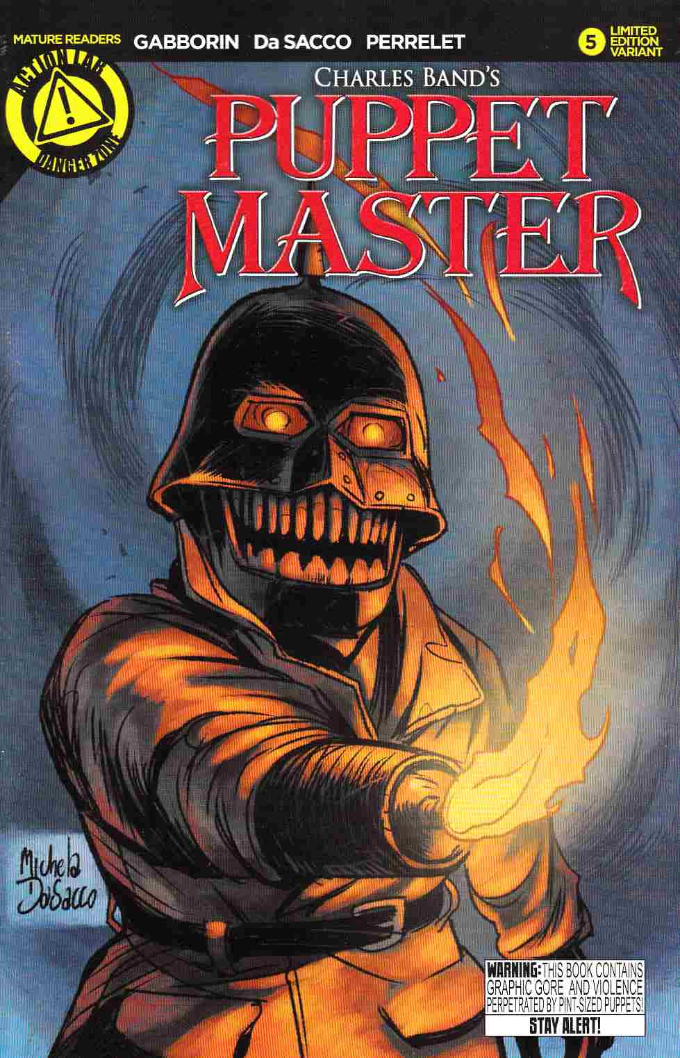 Puppet Master #5 Torch Variant Cover [Danger Zone Comic]
