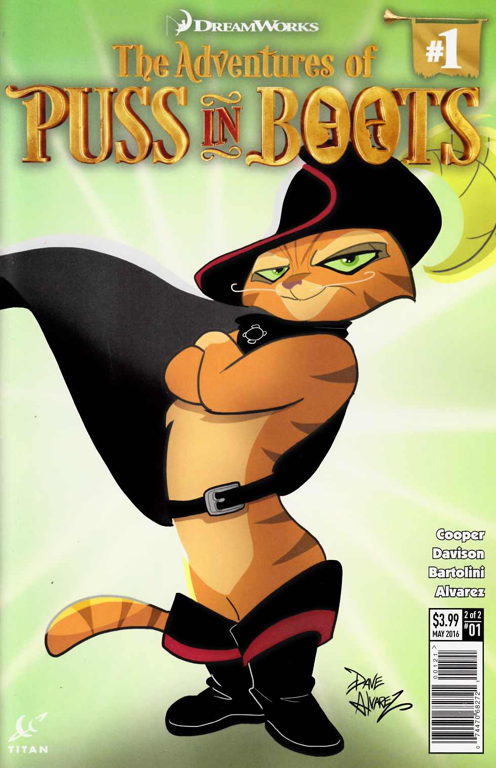Puss In Boots #1 Cover B [Titan Comic]