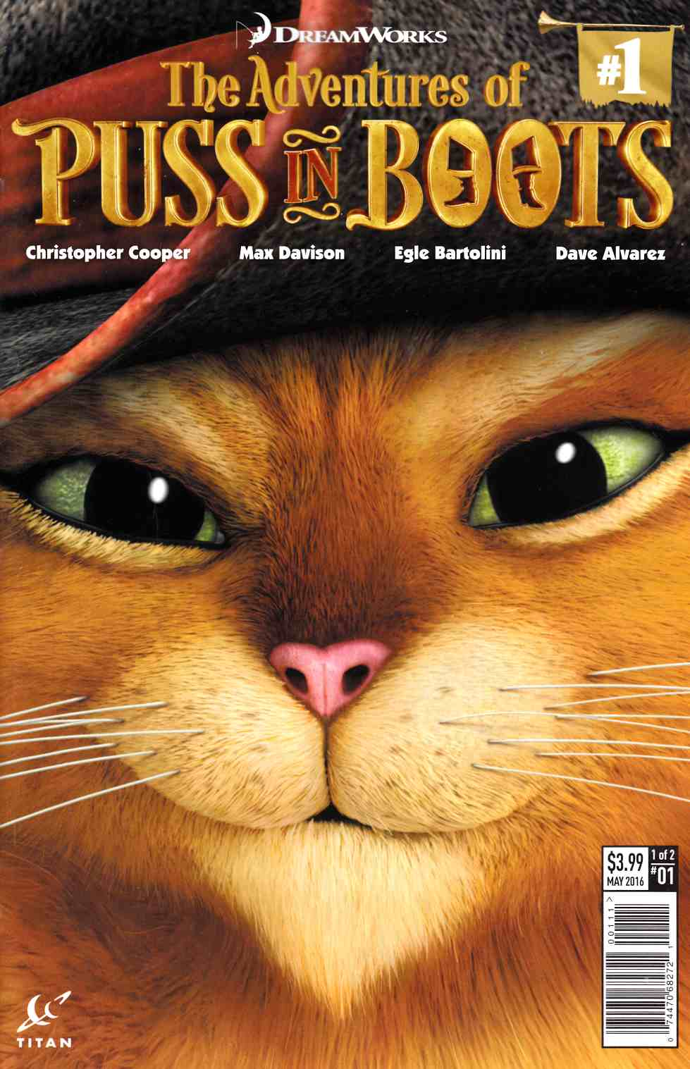 Puss In Boots #1 Cover A [Titan Comic]