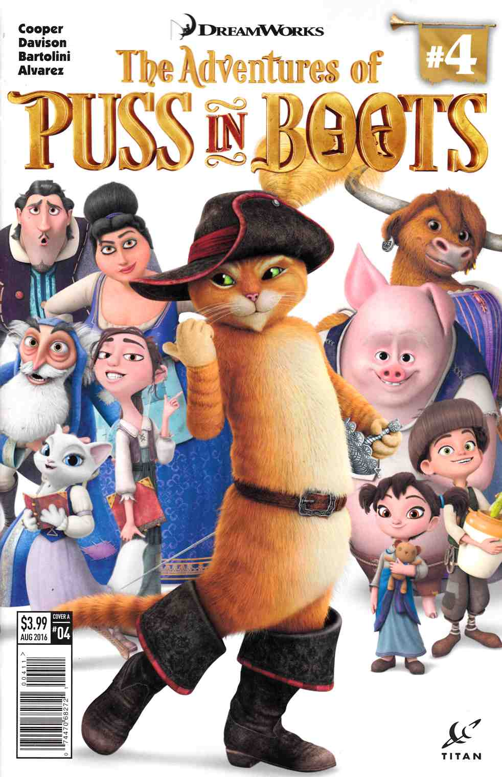 Puss in Boots #4 Cover A [Titan Comic]