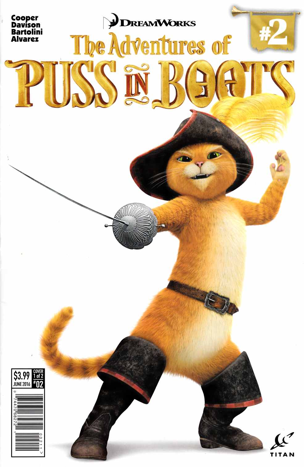Puss In Boots #2 Cover A [Titan Comic] THUMBNAIL