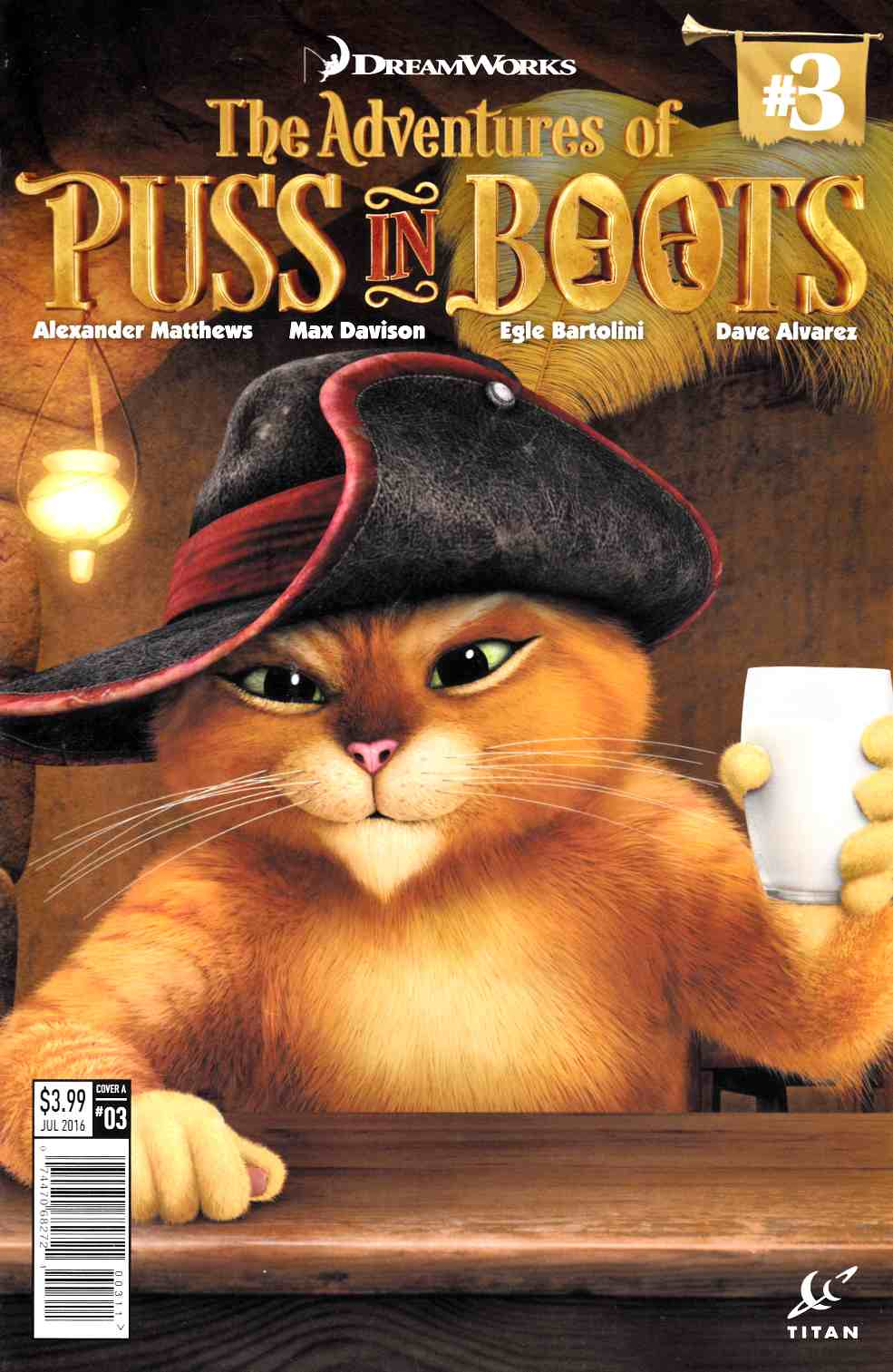 Puss in Boots #3 Cover A [Titan Comic]