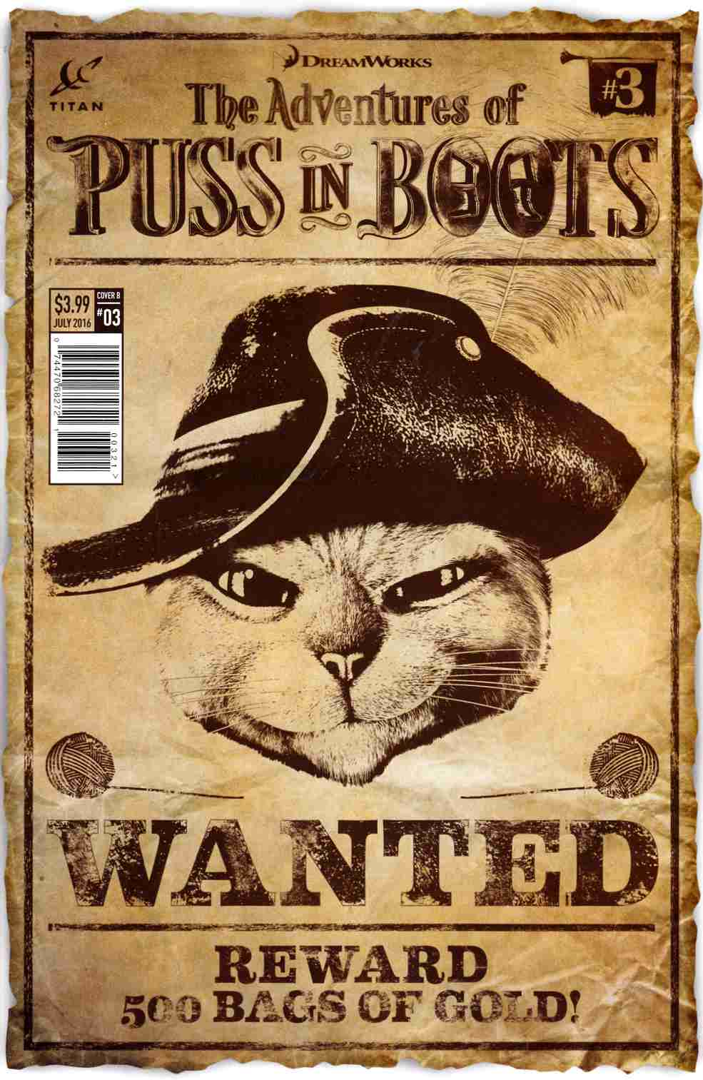 Puss in Boots #3 Cover B [Titan Comic]