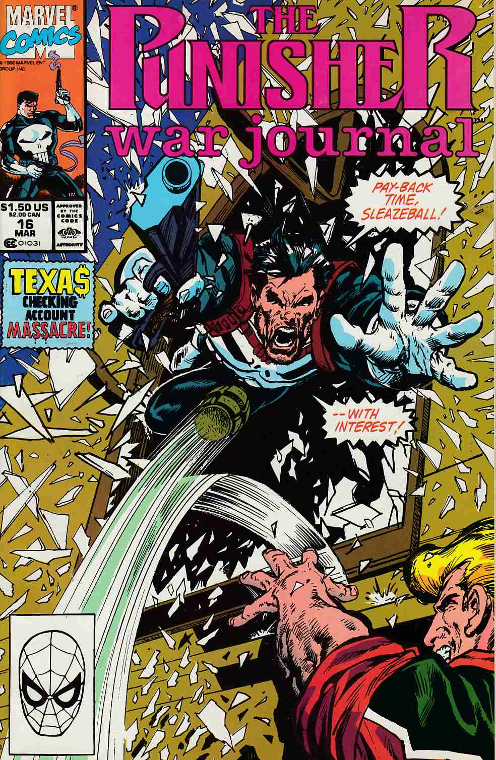 Punisher War Journal #16 Near Mint (9.4) [Marvel Comic] LARGE