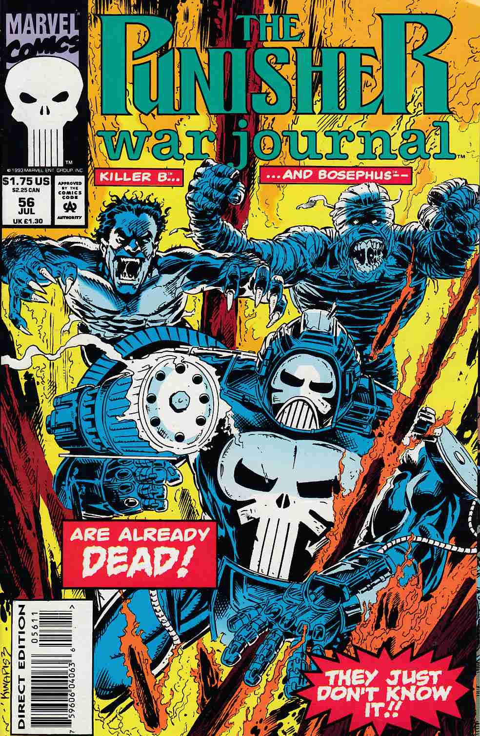 Punisher War Journal #56 Very Fine (8.0) [Marvel Comic] LARGE