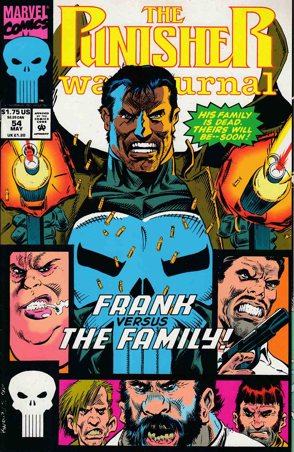 Punisher War Journal #54 Very Fine (8.0) [Marvel Comic] LARGE