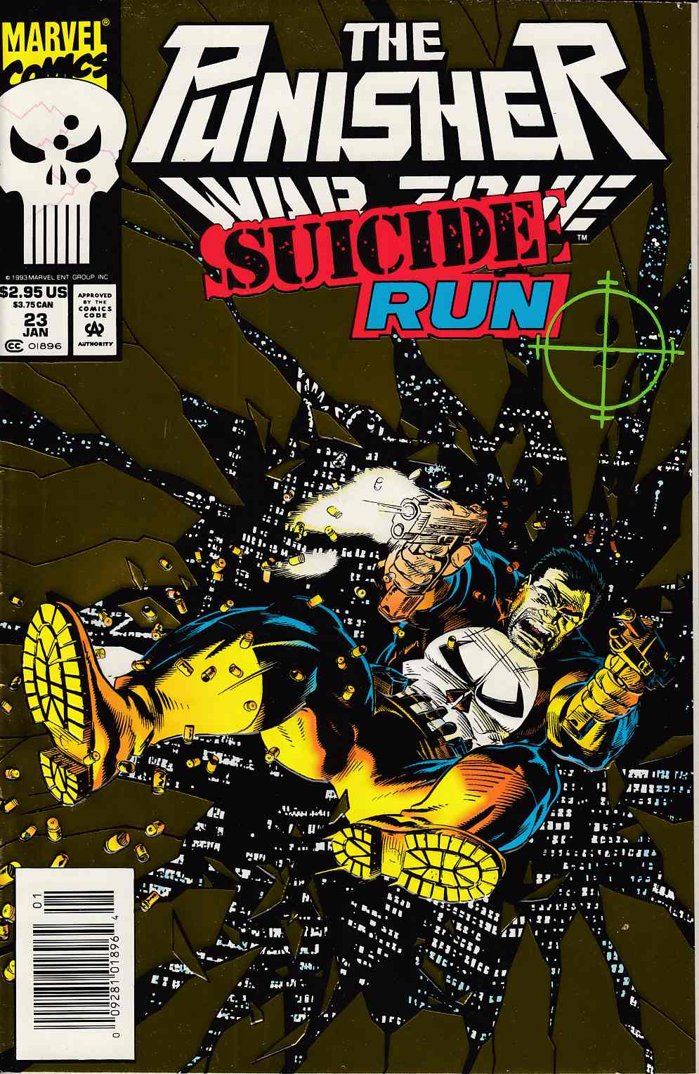 Punisher War Zone #23 Newsstand Edition Near Mint Minus (9.2) [Marvel Comic] LARGE