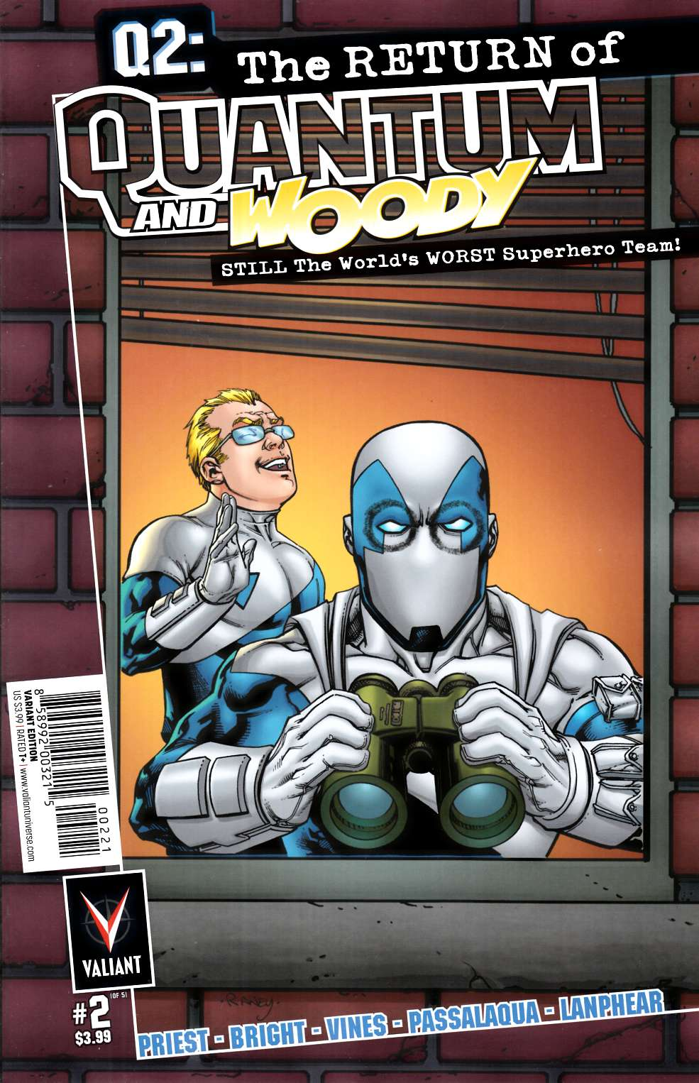 Q2 Return of Quantum & Woody #2 Cover B- Raney Incentive [Valiant Comic] THUMBNAIL