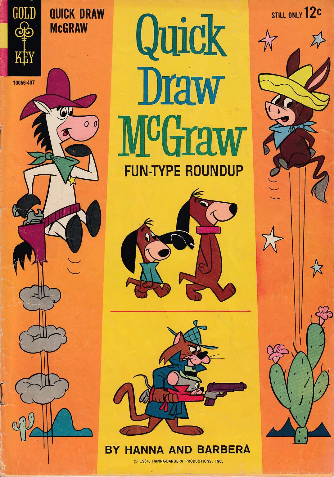 Quick Draw McGraw #14 Very Good (4.0) [Gold Key Comic] LARGE