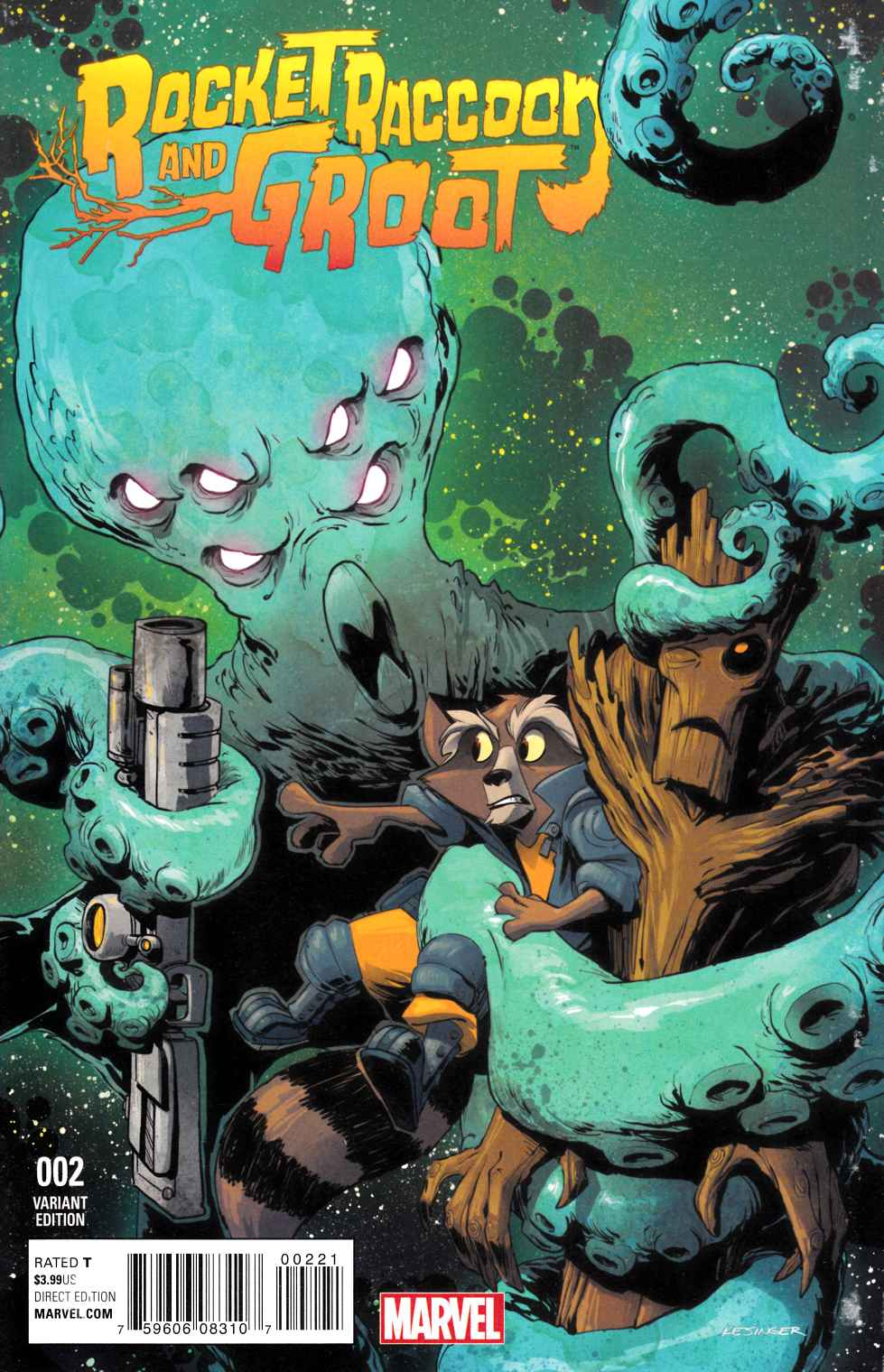 Rocket Raccoon and Groot #2 Kesinger Variant Cover [Marvel Comic] THUMBNAIL