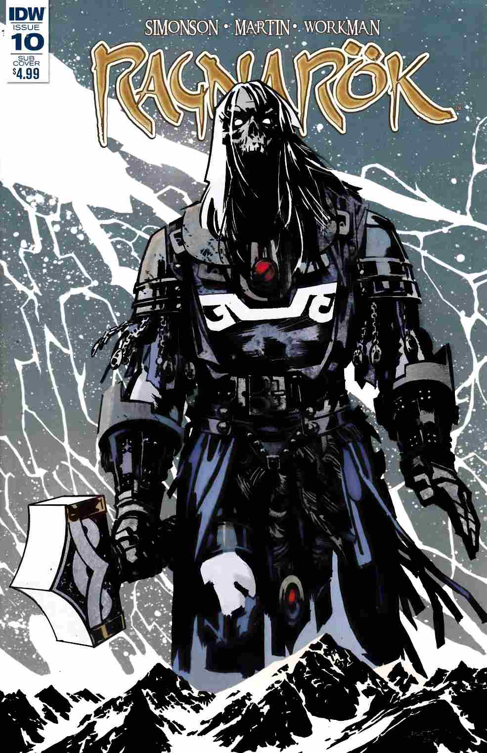 Ragnarok #10 Subscription Cover [IDW Comic] LARGE