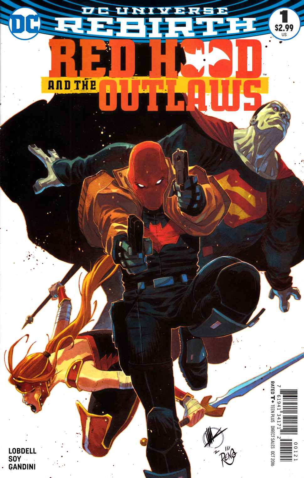 Red Hood and the Outlaws #1 Scalera Variant Cover [DC Comic] THUMBNAIL
