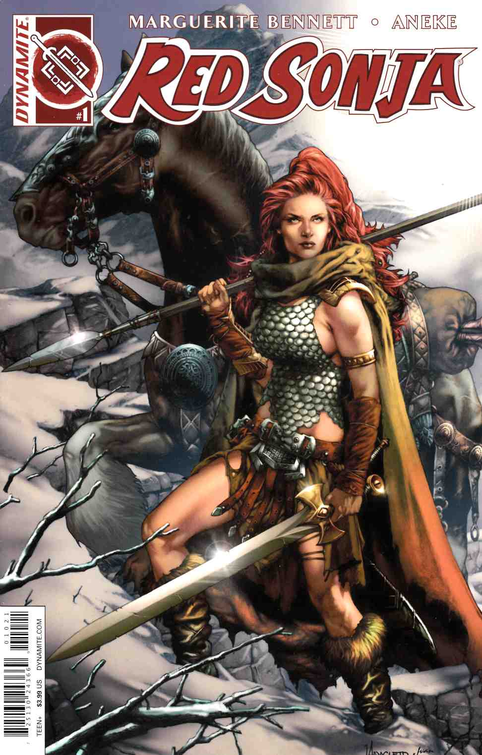 Red Sonja Volume 3 #1 Cover B- Anacleto [Dynamite Comic] THUMBNAIL