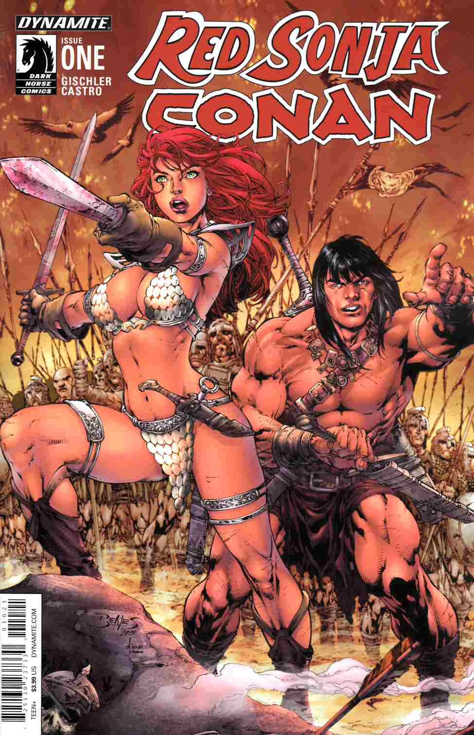 Red Sonja Conan #1 Cover B- Benes [Dynamite Comic]